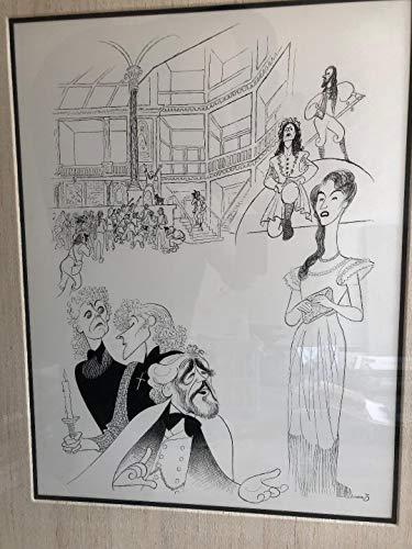- Al Hirschfeld's THE LONDON SKETCHBOOK Original Pen & Ink Drawing