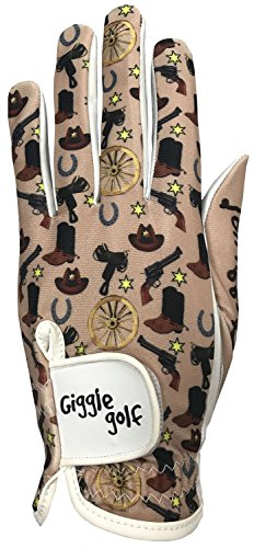 Cowgirl Mitt (Giggle Golf Western Women's Golf Glove (Medium, Worn On Left Hand))
