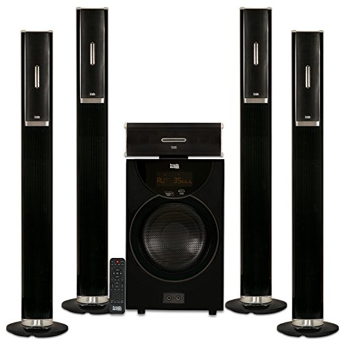 Acoustic Audio AAT2002 Tower 5.1 Home Theater Bluetooth Speaker System with 8'' Powered Subwoofer by Acoustic Audio by Goldwood
