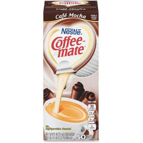 Coffee-mate 35115 Cafe Mocha Creamer Singles - Cafe Mocha Flavor - 10.6 g - 50/Box - 1 Serving