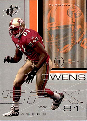 Terrell Owens San Francisco 49ers HOF 2018 Hall of Fame 2001 SPx #79 NFL Football Card