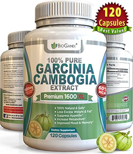 BioganixTM Pure Garcinia Cambogia Extract Premium 1600mg XL