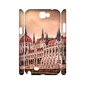 Samsung Galaxy Note 2 Case 3D, Hungarian Parliament Building Case for Galaxy Note 2 white lmn2175754
