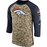 Men's Nike Denver Broncos Dry Tee Legend 3/4 STS Raglan Shirt