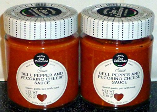 Cascina San Cassiano Bell Pepper & Pecorino Romano Cheese Sauce (2 Pack), Italy