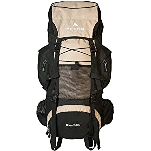 Teton Sports Scout 3400 Internal Frame Backpack – Not Your Basic Backpack; High-Performance Backpack for Backpacking, Hiking, Camping; Tan