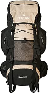 Teton Sports 121T Scout 3400 Internal Frame Backpack; Great Backpacking Gear or Pack for Camping or Hiking; Tan