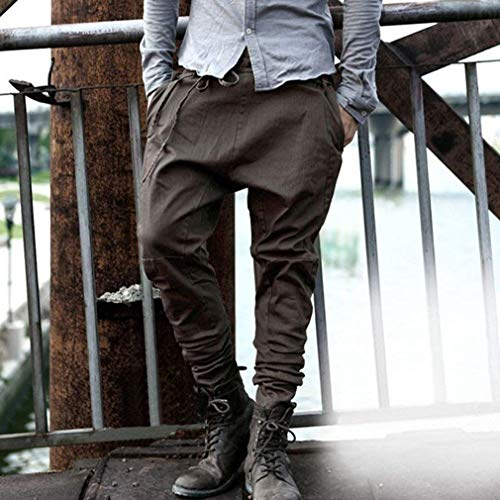 Taschino Moda Da Uomo A Colori Casual Donna Benda Puri Pantaloni Braun Skinny Larghi Ha6wq