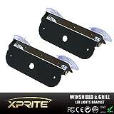 Xprite Light Holder Adjustable Bracket For 4 LED 4 Watt Emergency Vehicle Waterproof Surface Mount Deck Dash Grille Strobe Light Warning Police Light Head - 2 Pack