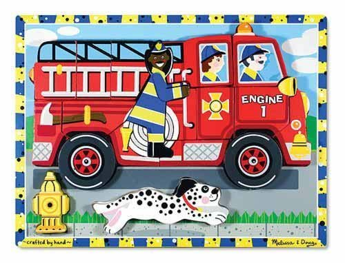 7 Pack MELISSA & DOUG FIRE TRUCK CHUNKY PUZZLE