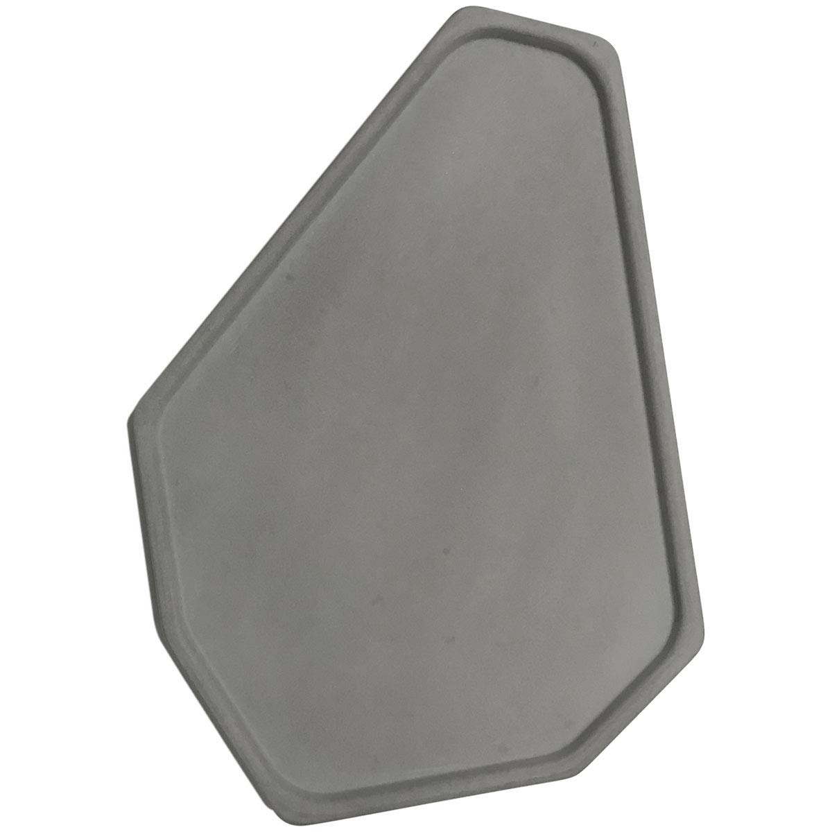 FREELOVE Concrete Serving Tray, Cement Serving Platter Bathroom Holder Vanity Trays Jewelry Dish Cosmetics Organizer Towel Tray Tea Tray (Grey, Polygon 7'' by 9.6'') by FREELOVE
