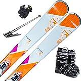 ROSSIGNOL (ロシニョール) スキー5点セット 16-17 TEMPTATION 75 XPRESS W10 ビンディング/ブーツ/ストック/グローブ付き