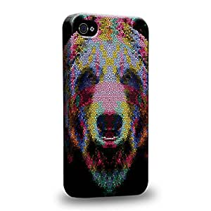 The most popular Art Animal Aztec Face Series Aztec Bear Face Red and Blue Protective Snap-on Hard Back Case Cover for Apple iPhone 6 4.7