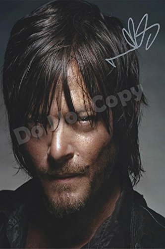 iconic pics Norman Reedus Daryl Dixon Signed Mounted Photo Display Walking Dead