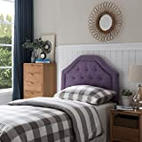 Lyla Studded Border Fabric Kid's Twin Headboard (Light Purple)