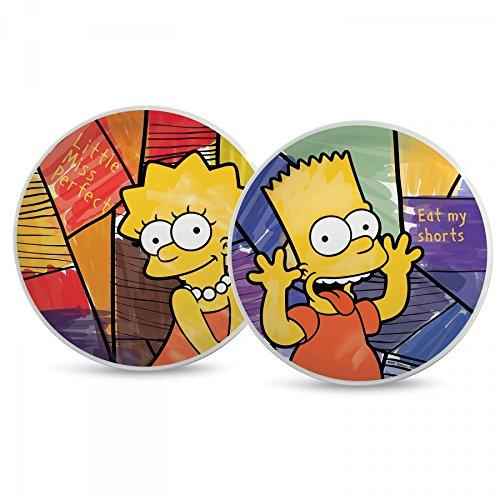 2/Einheiten Porzellan Typ Bart//Lisa Mehrfarbig The Simpsons pts37t//2vis Set Pizzateller