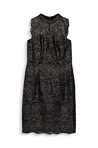 ESPRIT Damen Black 002 Schwarz 2 Kleid Collection 5rw145