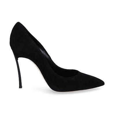 6087cb54016 Casadei Femme 1F161black Noir Suède Escarpins  Amazon.fr  Chaussures ...