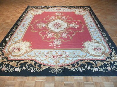 - 8'6 x 11'2 Hand Knotted Oriental Rug Chinese AUBUSSON RED
