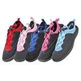 Wholesale Women's Laced Aqua Socks water shoes 6-11, yoga, exercise, pool, beach, swimming, river, lake