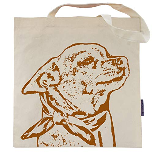(Lily the Chihuahua Tote Bag by Pet Studio Art )