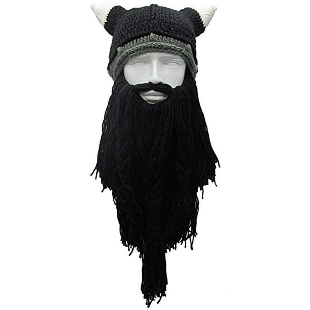 fd03ef22ec2 Creative Winter Hat with Knitting Wool Hair and Beards at Amazon Men s  Clothing store