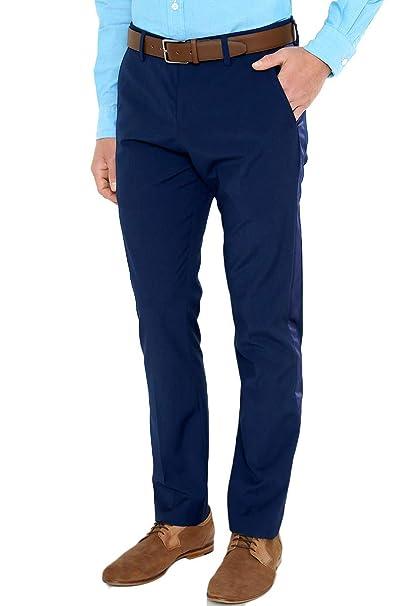 6bd689cb7 LOB- Pantalón Azul Rey Pantalones para Hombre Azul Talla 33: Amazon ...