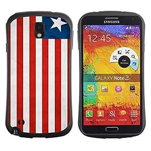 Suave TPU GEL Carcasa Funda Silicona Blando Estuche Caso de protección (para) Samsung Note 3 / CECELL Phone case / / National Flag Nation Country Liberia /