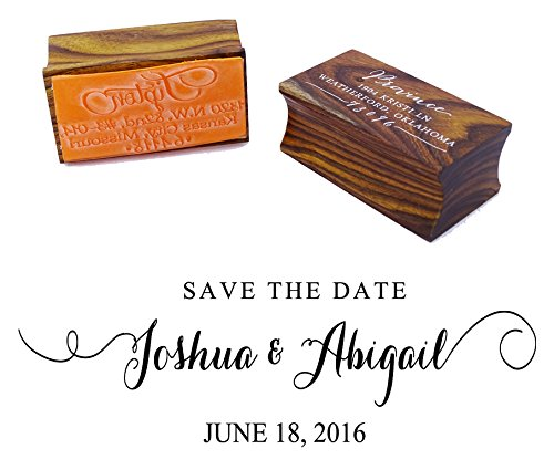 Wedding Invitation Stamp Save The Date Wood Mounted Rubber Stamp Wedding Gift (Wood Save The Date)