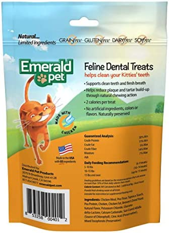 Emerald Pet Premios Dentales de Pollo de 85g para Gato 3