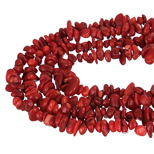 wanjin Red Coral Stone crystal Chips Beads 5~8mm 34 Inches per strand For Jewelery Making
