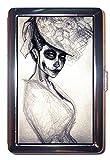 Gothic Horror Victorian Girl Skull Skeleton: ID Wallet or Cigarette Case USA Made