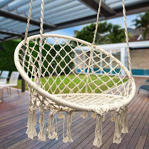 Appreciis Hammock Chair Macrame Swing Round Cotton Rope
