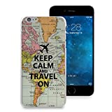 HelloGiftify iPhone 7 Plus/iPhone 8 Plus Case, Keep Calm and Travel On Map Phone Case Plastic Soft Rubber TPU Back Cover for iPhone 7 Plus/iPhone 8 Plus (5.5'')