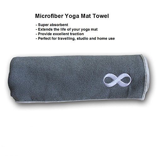 Fitlifestyleco Yoga Mat Towel Combo: YogaAddict Yoga Mat Towel And Hand Towel Combo Set