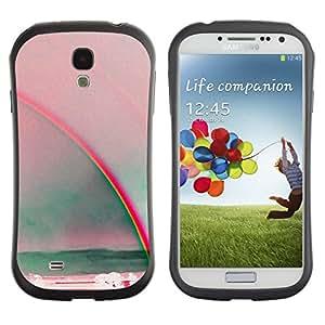 Suave TPU GEL Carcasa Funda Silicona Blando Estuche Caso de protección (para) Samsung Galaxy S4 I9500 / CECELL Phone case / / rainbow art sun summer sea red teal /