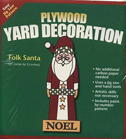 christmas plywood yard decoration pattern folk santa - Christmas Yard Decorations Patterns