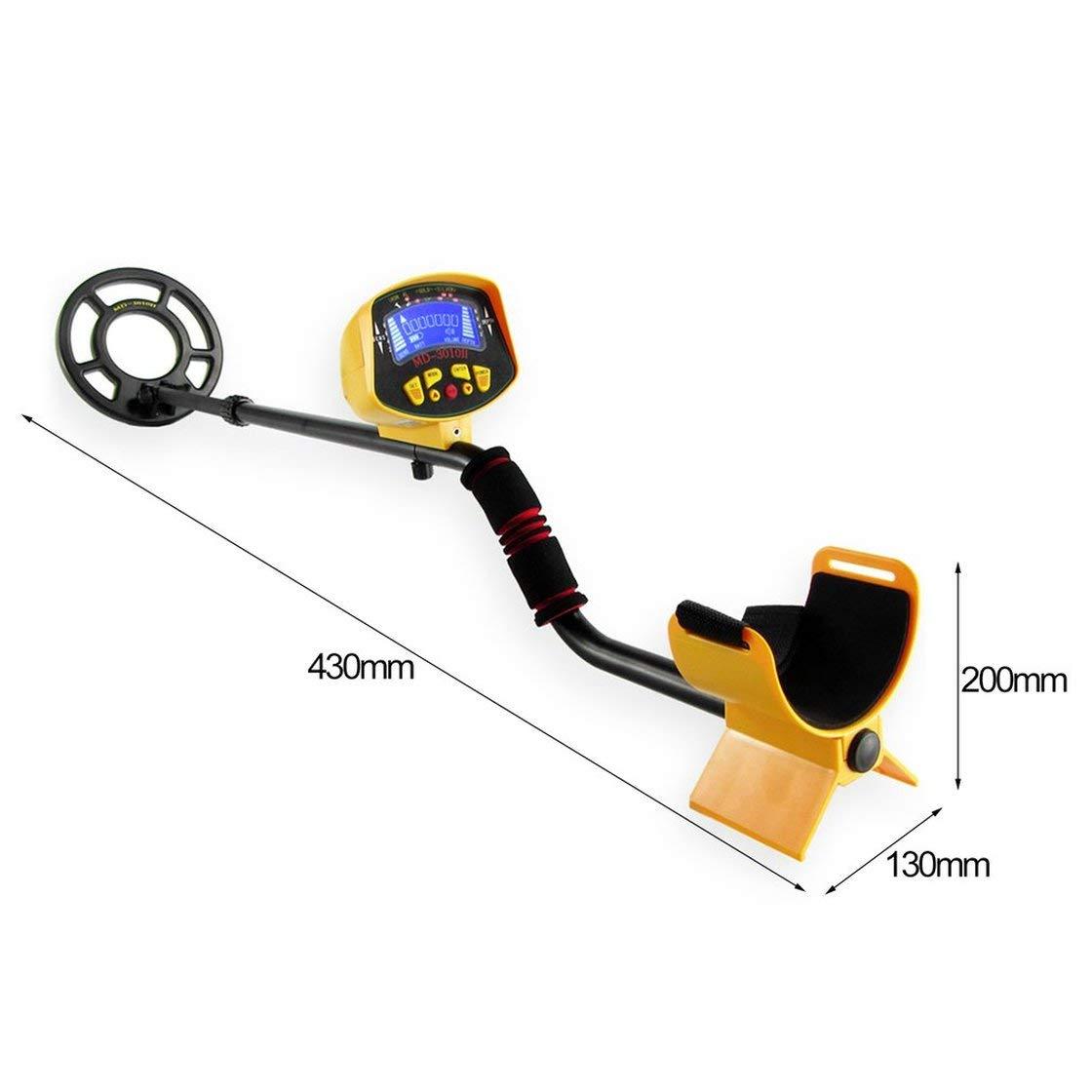Gwendoll MD3010 Detector de Metales con detecci/ón de Suelo Buscador de Pepitas de Oro Detector de Oro