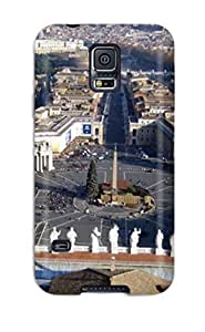 New Premium Flip Case Cover City Of Rome Skin Case For Galaxy S5