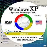 WINDOWS XP - 32 Bit DVD SP3, Supports HOME edition. Recover, Repair, Restore or Re-install Windows to Factory Fresh!