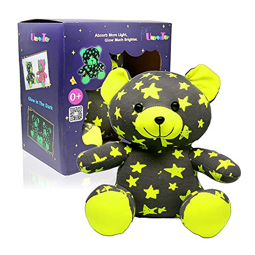 UnyeeToy Star Brother Bear | Glow-In-The-Dark Luminous Stuffed Animal Toy Gift - Batteries Not Required