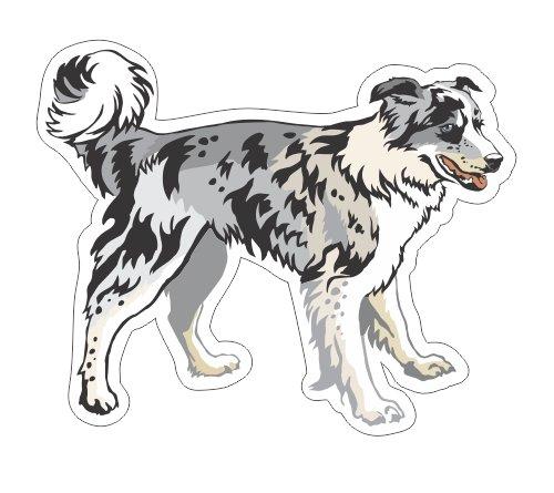 - JS Artworks Border Collie Vinyl Bumper Sticker Decal Dog Family Love Pet