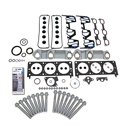 - Head Gasket Set Bolt Kit Fits: 99 Pontiac Gran AM 3.4L V6 OHV 12v Cu.207