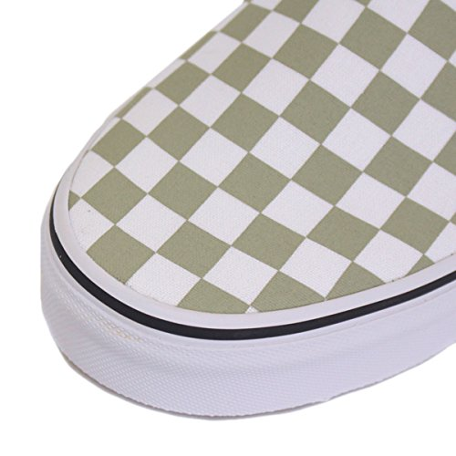 true on Trainers Classic Slip White Vans Sage checkerboard Desert Women's wq8T7Zt