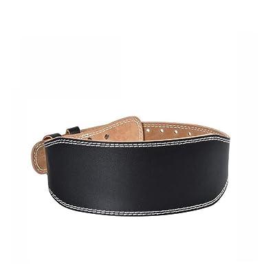 Ceinture de levage de poids en cuir pour les hommes et les femmes Durable confortable réglable avec boucle stabilisant le soutien inférieur du dos pour la ceinture de musculation