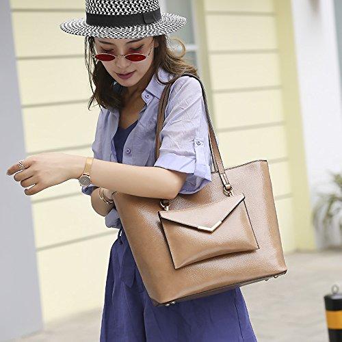 Las Versátil De Moda Bolso Brown Bandolera Beige Tendencia M Bolsos Mujeres Size Shishanyun Diseño color Sencillo UnEwW05pqx
