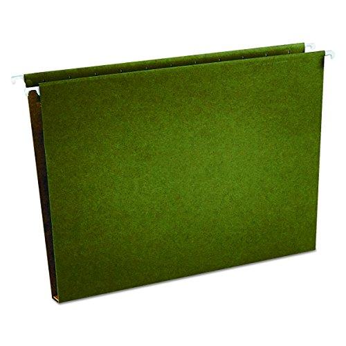 Universal 14141 One Inch Box Bottom Hanging Folder, Pressboard, Letter, Standard Green (Box of 25)