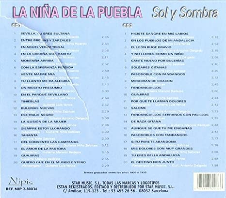 La Nina De La Puebla - Sol Y Sombra (2CD) - Amazon.com Music