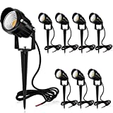 MEIKEE 7W LED Landscape Lights Pathway Lights Low Voltage Spotlights Warm White IP66 Waterproof for Driveway, Yard,...