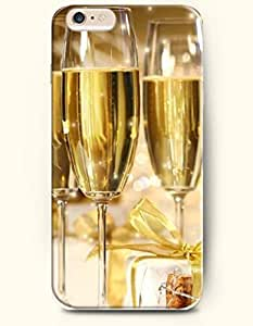 SevenArc New Apple iPhone 6 ( 4.7 Inches) Hard Case Cover - Three Goblets of Champagne